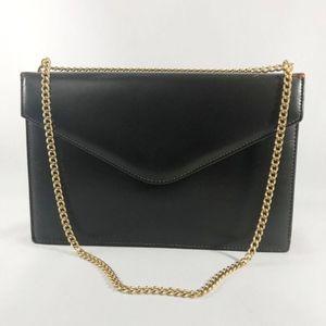 Vintage Etra Dark Brown Leather Envelope Bag